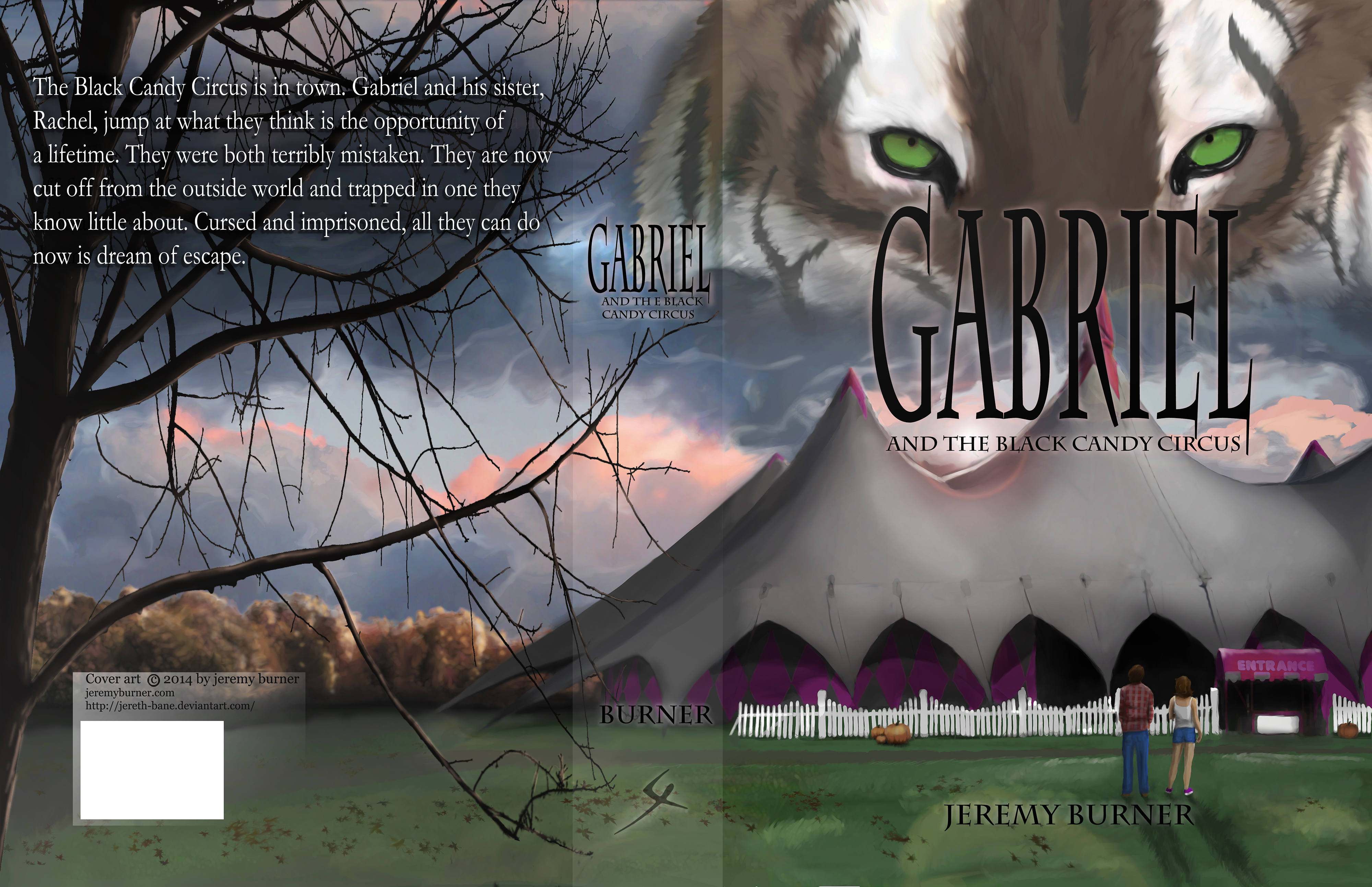 Gabriel and the black candy circus book cover full